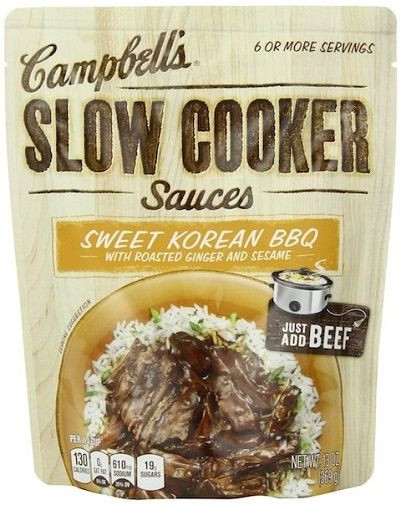 Campbell'S Slow Cooker Sauces  Campbell s Slow Cooker Sauces Sweet Korean BBQ