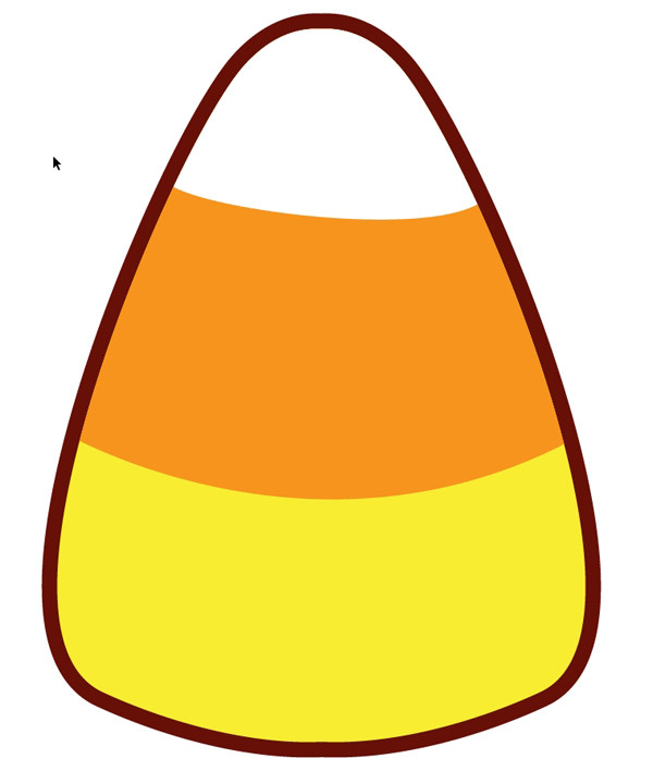 Candy Corn Clipart  How to Make a Quick Kawaii Candy Corn Pattern for Halloween