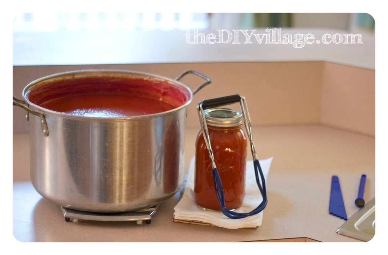 Canning Spaghetti Sauce  Canning Spaghetti Sauce Home Preserving  the DIY village