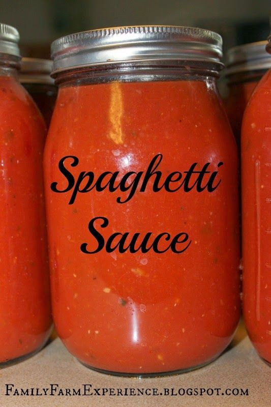 Canning Spaghetti Sauce  18 best images about Canning on Pinterest