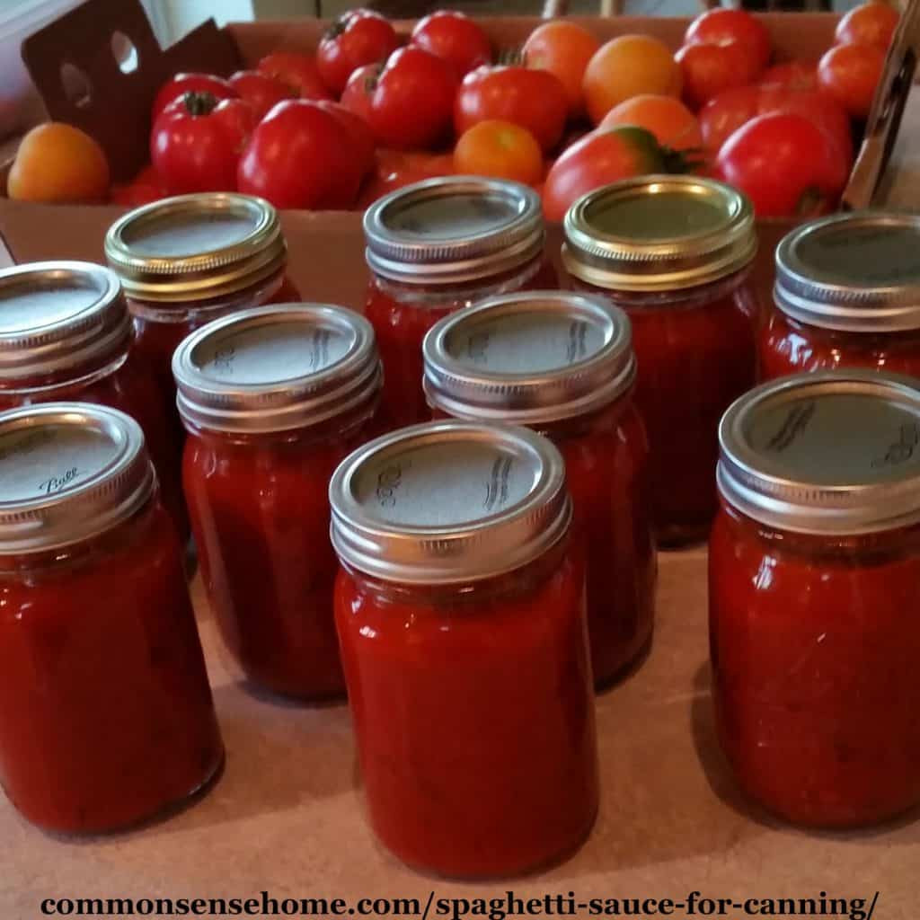 Canning Spaghetti Sauce  Spaghetti Sauce for Canning Made with Fresh Tomatoes