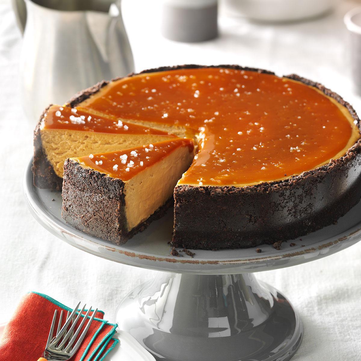 Caramel Cheesecake Recipe  Salted Caramel Cappuccino Cheesecake Recipe