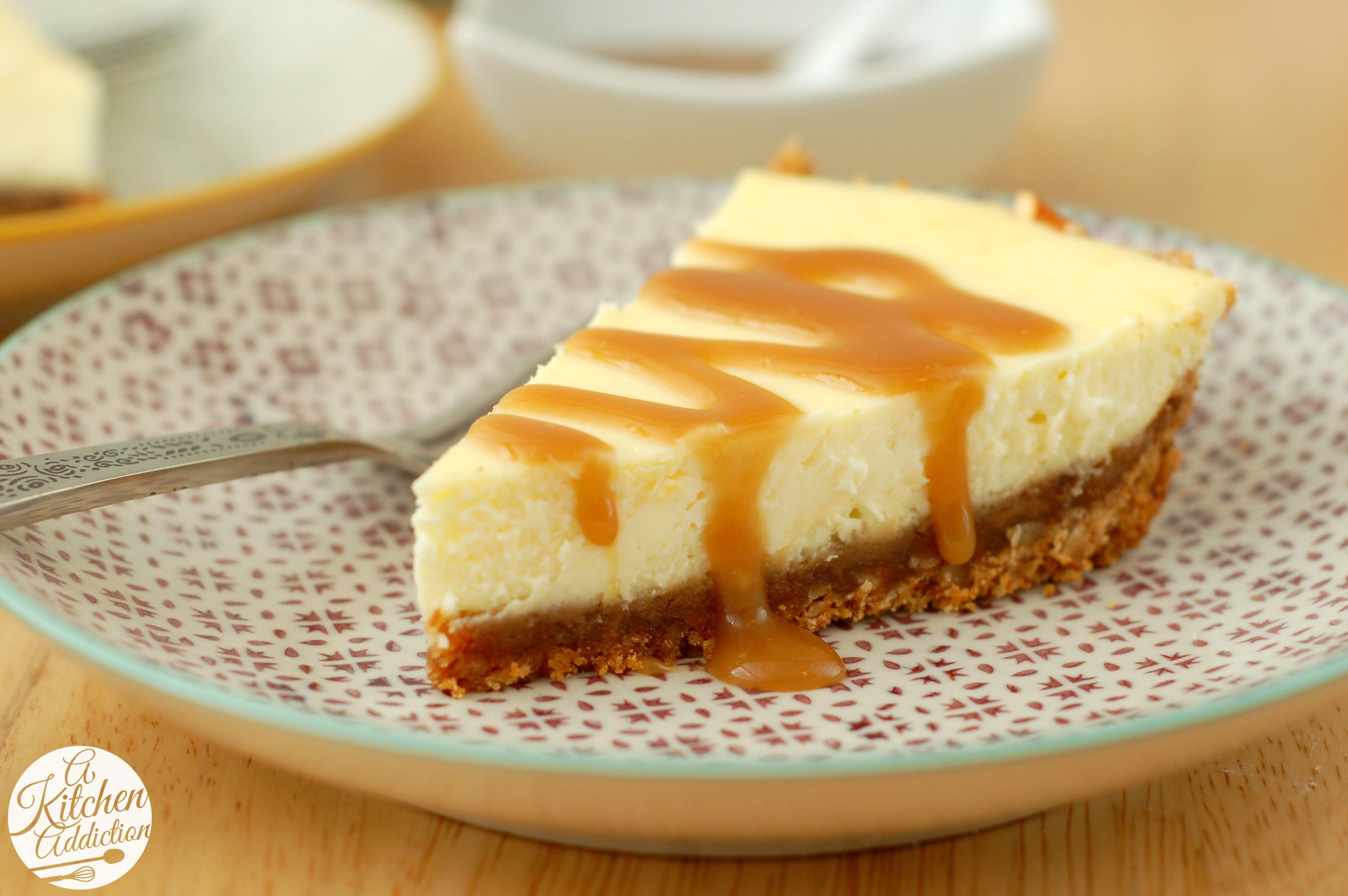 Caramel Cheesecake Recipe  Salted Caramel Pretzel Cheesecake A Kitchen Addiction