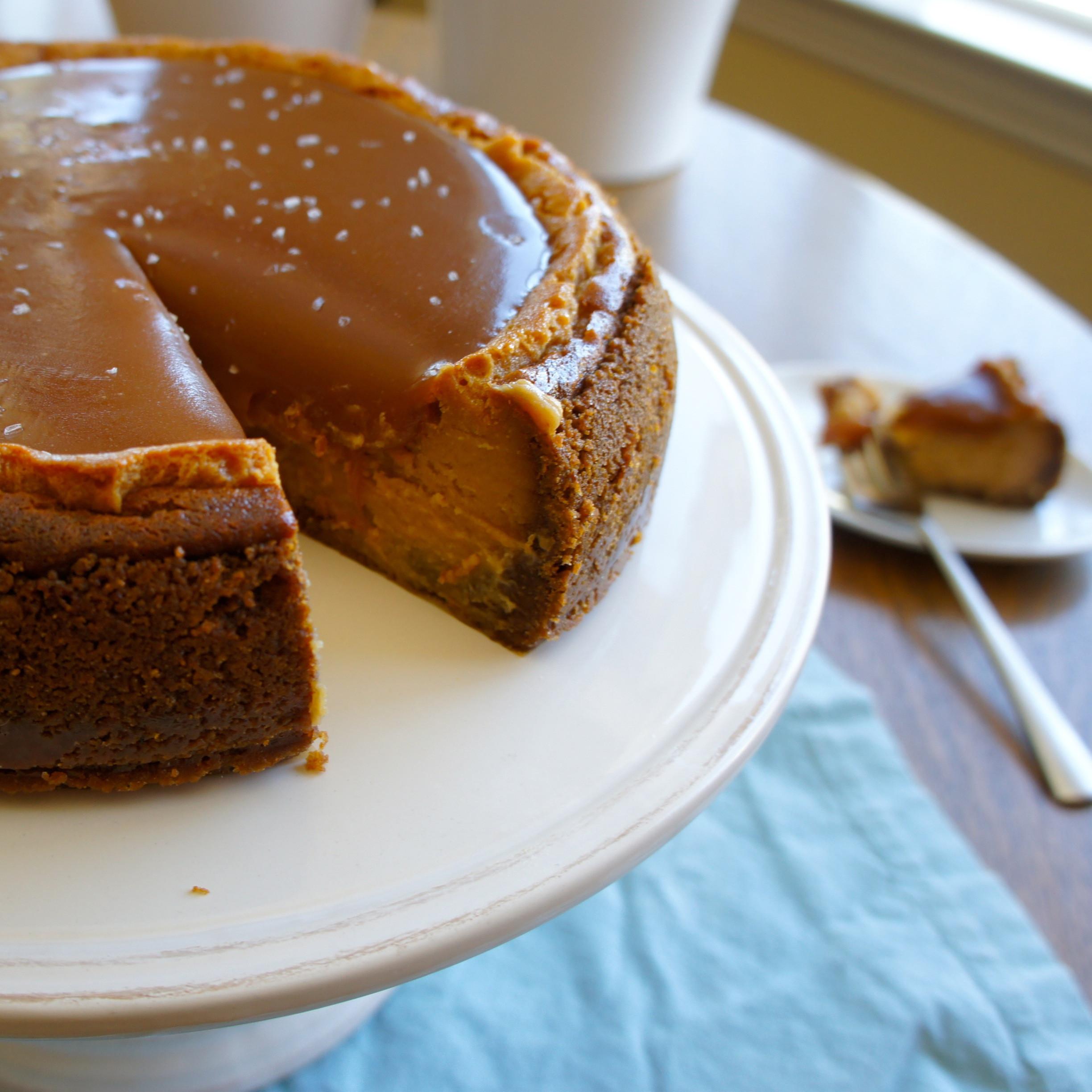Caramel Cheesecake Recipe  Salted Caramel Cheesecake