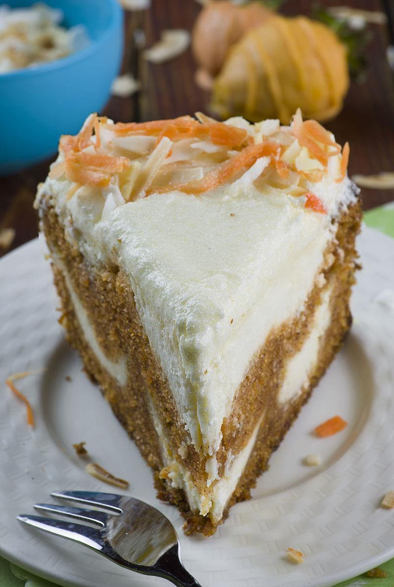 Carrot Cake Cheesecake  Carrot Cake Cheesecake Easter version