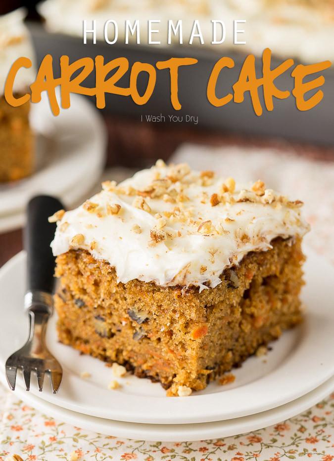 Carrot Cake Recipes  Homemade Carrot Cake Recipe I Wash You Dry