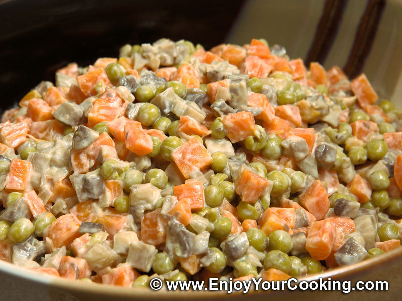 Carrot Salad Recipes  Carrots and Stewed Mushrooms Salad Recipe
