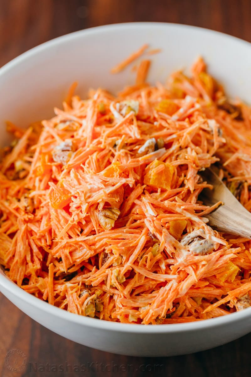 Carrot Salad Recipes  Carrot Salad with Apricots and Pecans NatashasKitchen