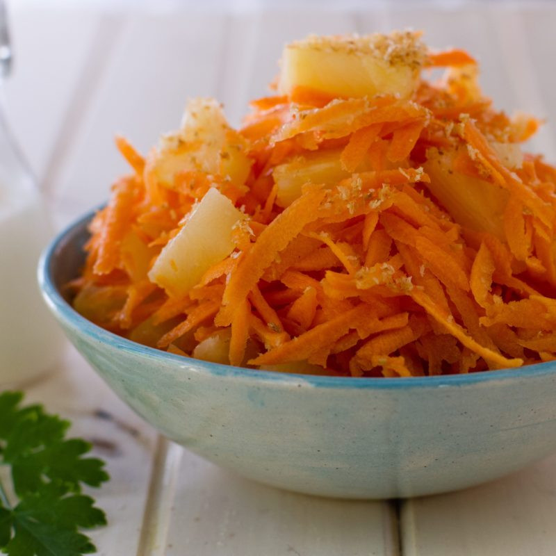 Carrot Salad Recipes  Carrot Salad with Coconut & Pineapple