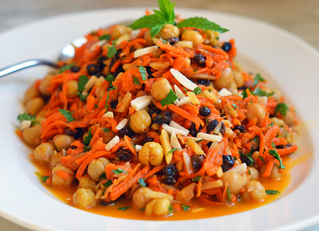 Carrot Salad Recipes  Moroccan Carrot & Chickpea Salad ce Upon a Chef