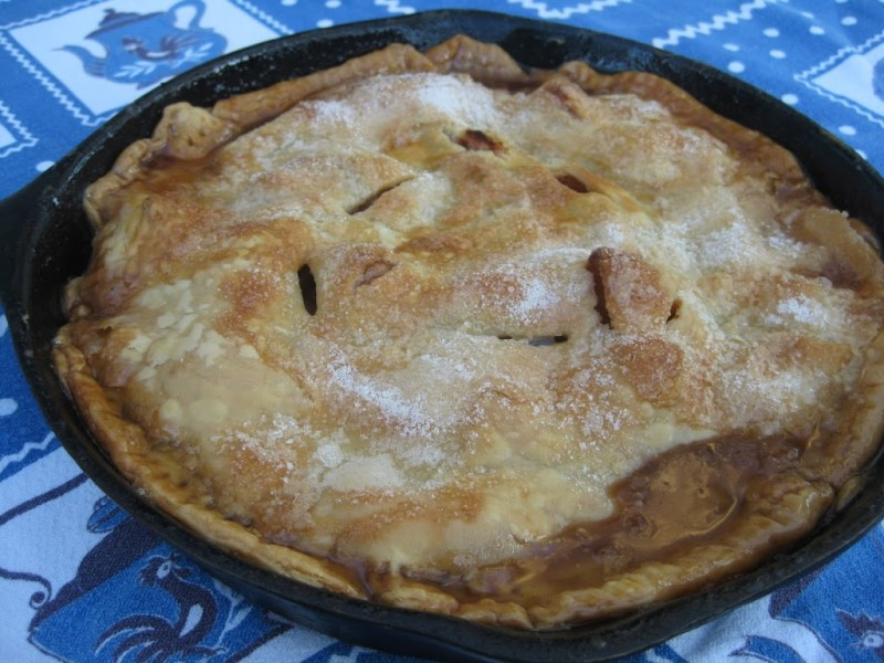 Cast Iron Skillet Apple Pie  OMG Skillet Apple Pie A Jennuine Life