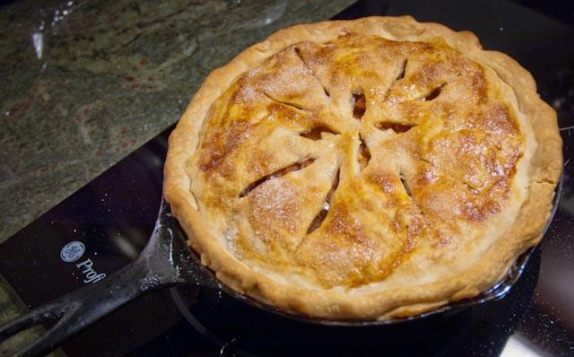Cast Iron Skillet Apple Pie  unWine d Tapas & Grilled Rack of Lamb