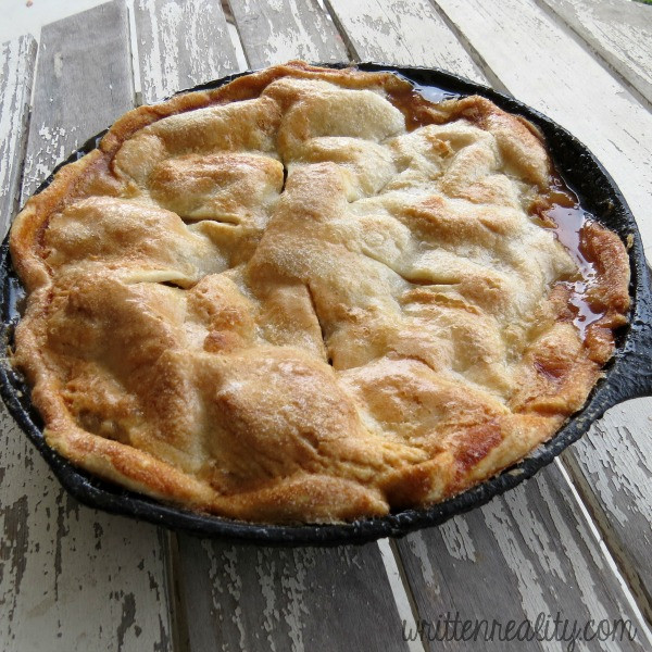 Cast Iron Skillet Apple Pie  Easy Skillet Apple Pie Recipe Written Reality