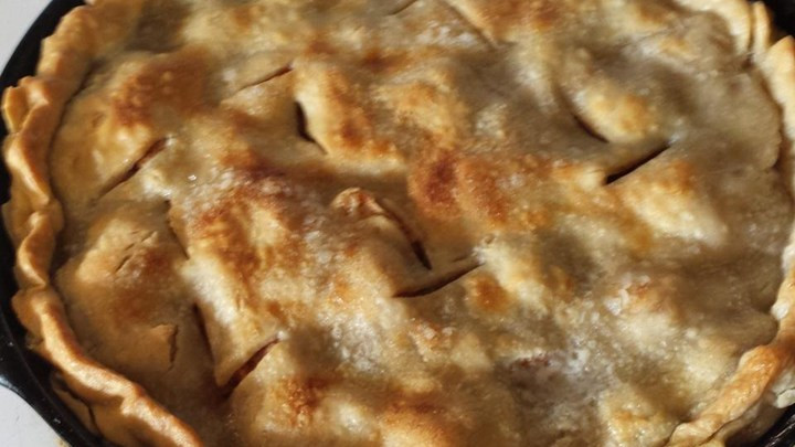 Cast Iron Skillet Apple Pie  Grandma's Iron Skillet Apple Pie – The Rolling Pin