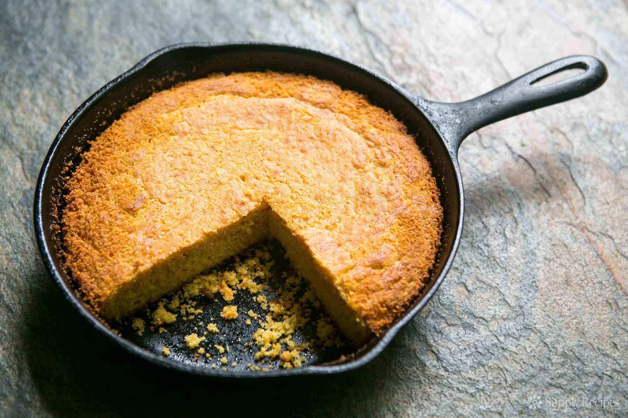 Cast Iron Skillet Cornbread  Cornbread Recipe Savory Southern Style