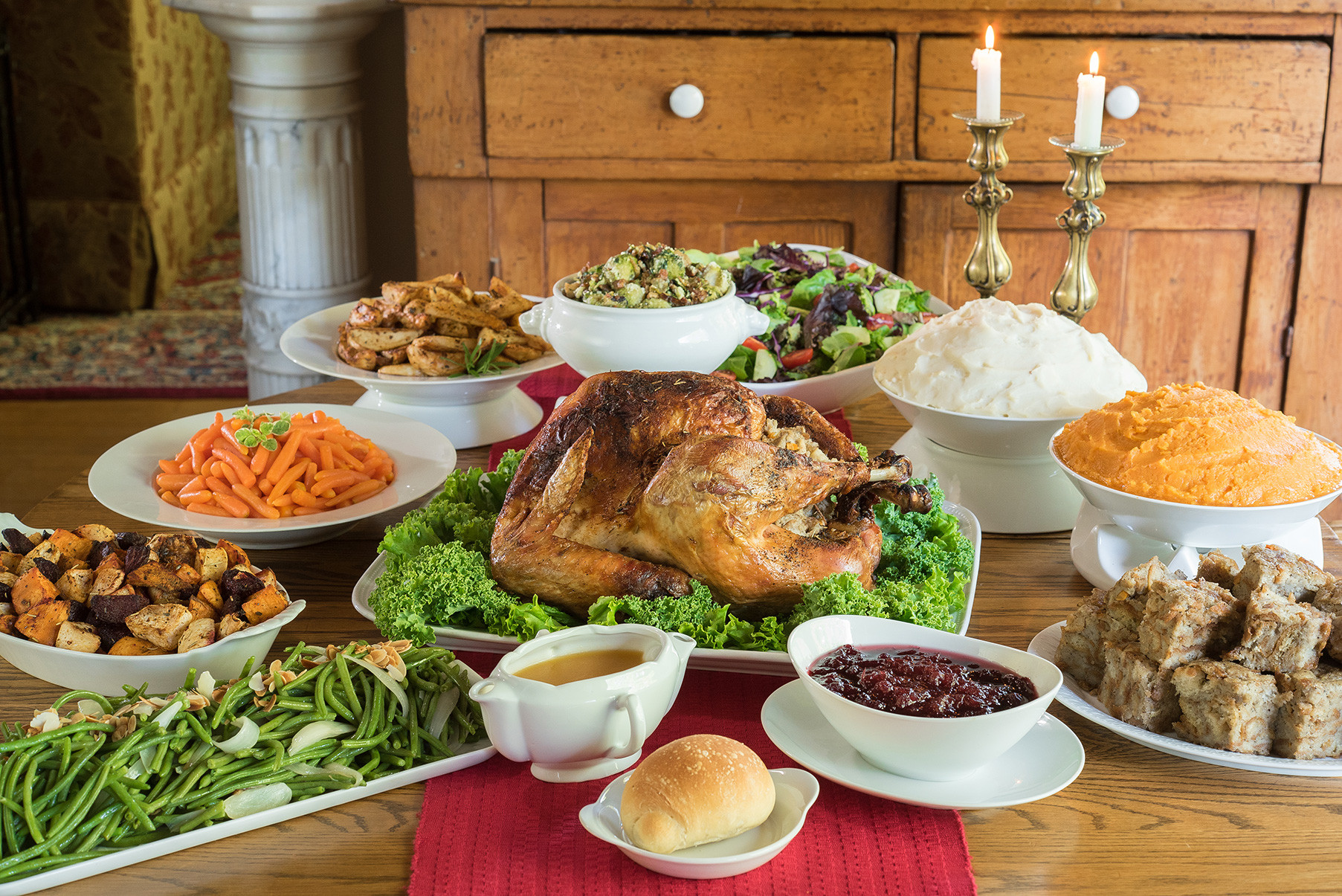Catered Thanksgiving Dinners  Fall Season Catering Food Specials and Deals at Kiss the Cook