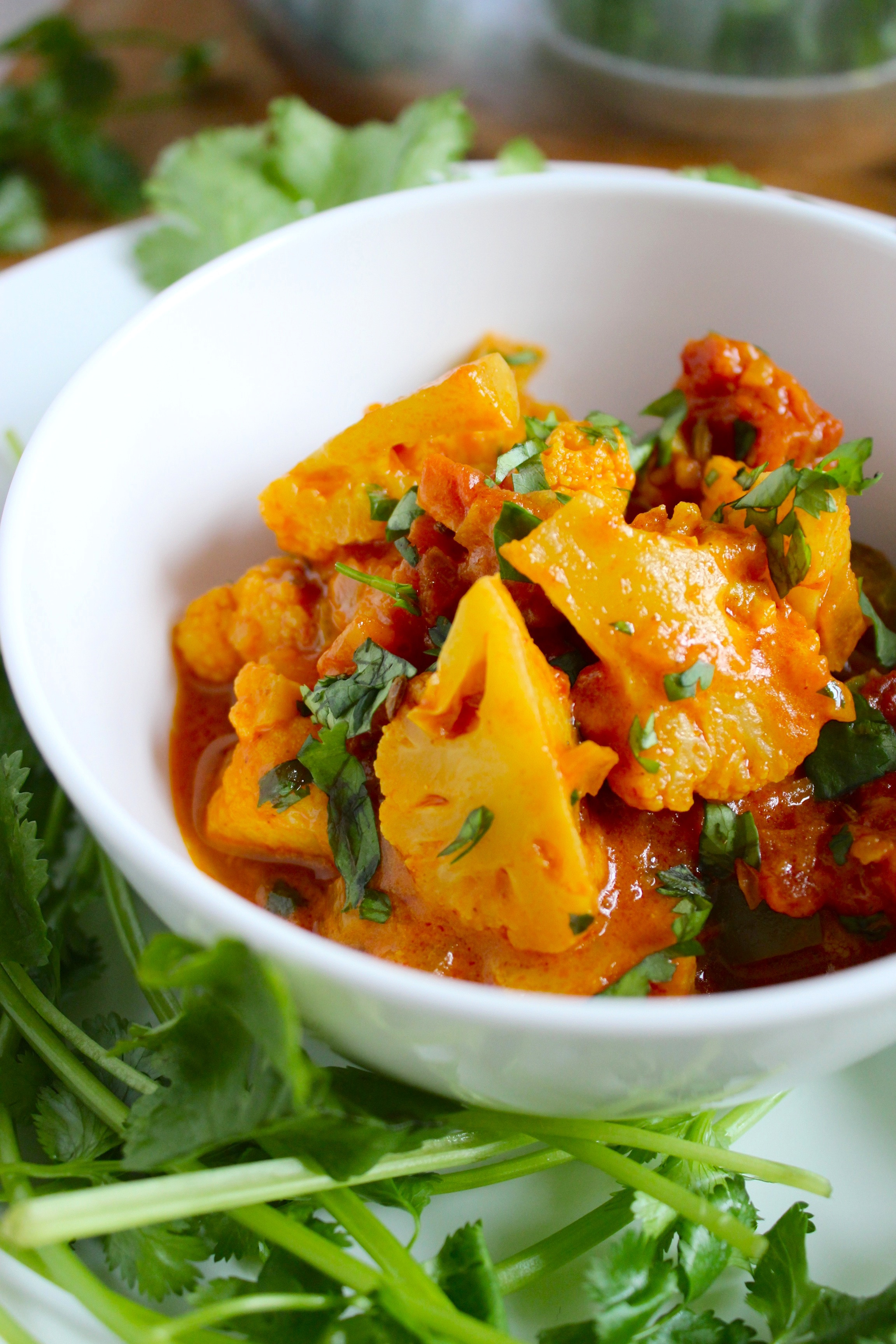 Cauliflower Recipes Vegan  Easy Vegan Cauliflower Curry from The Fitchen
