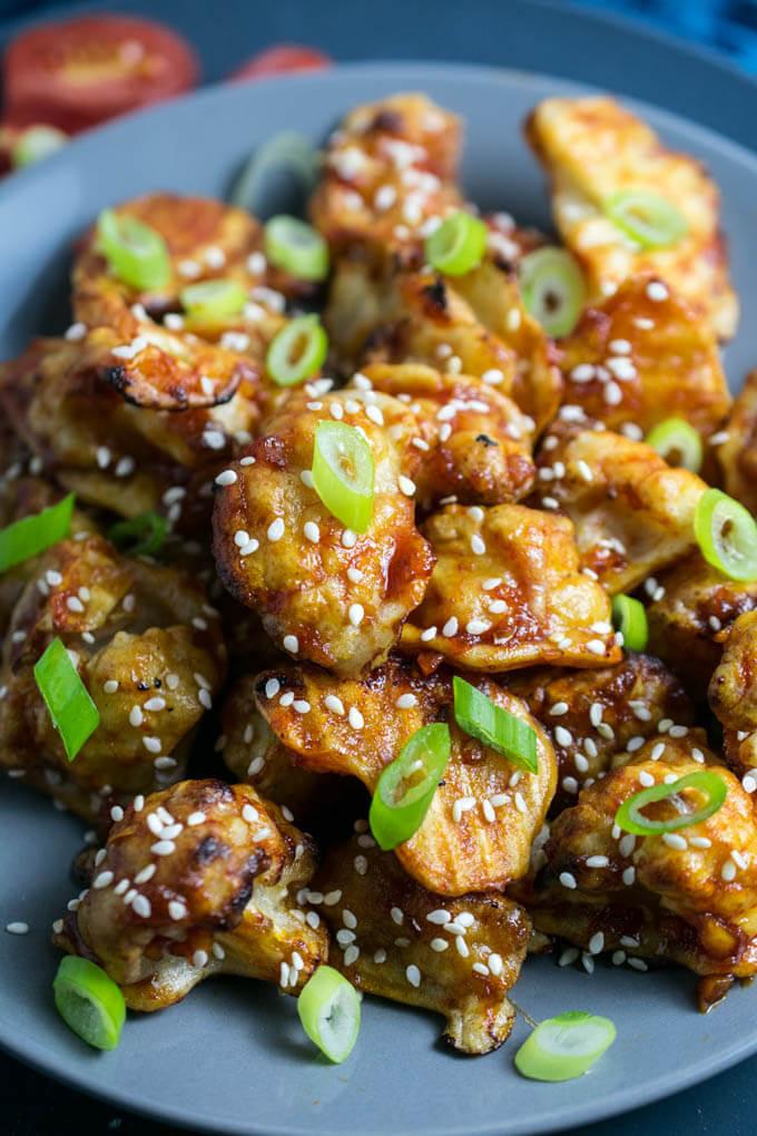 Cauliflower Recipes Vegan  Sticky Sesame Cauliflower Recipe
