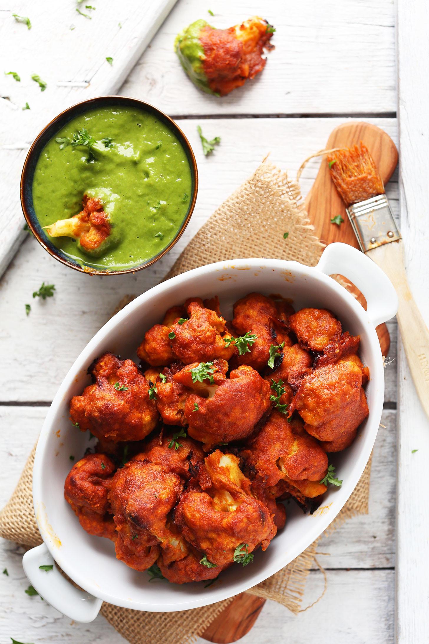 Cauliflower Recipes Vegan  Red Curry Cauliflower Wings