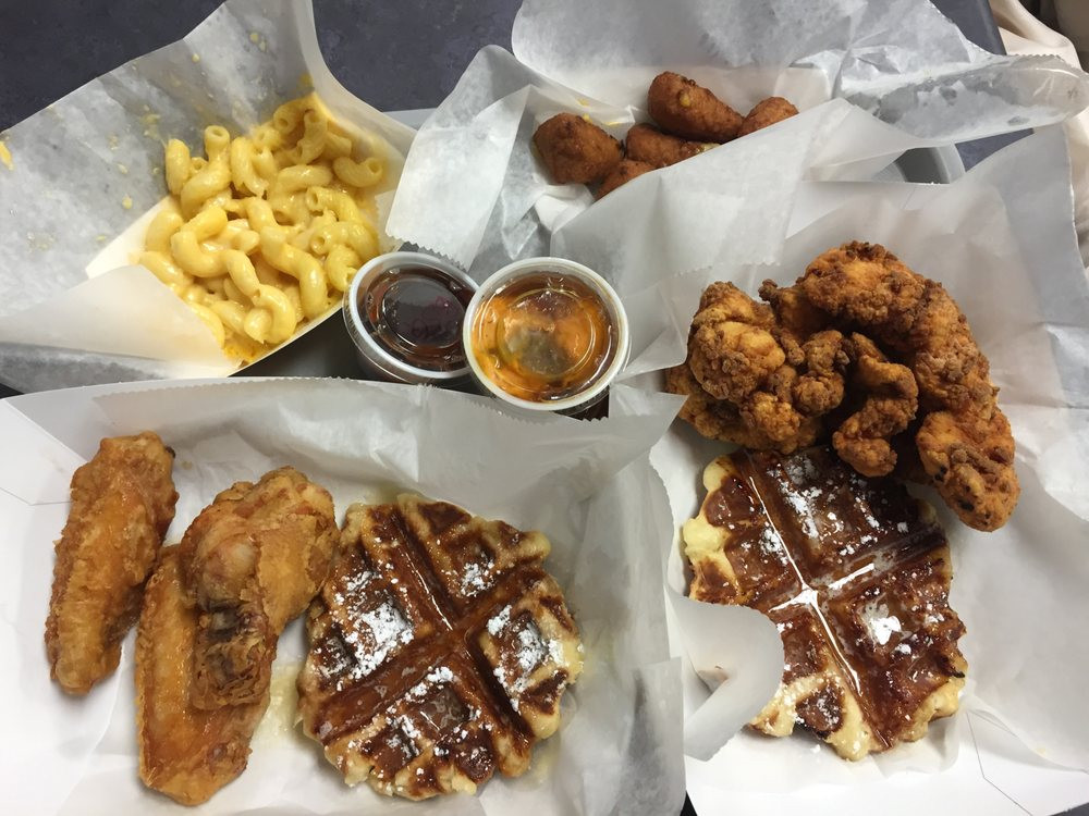Cheeks Chicken And Waffles  wings tenders waffles mac n cheese broccoli n cheddar