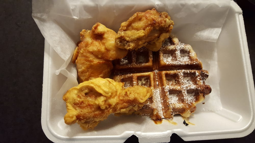 Cheeks Chicken And Waffles  Yummy chicken wings and waffles bo Yelp
