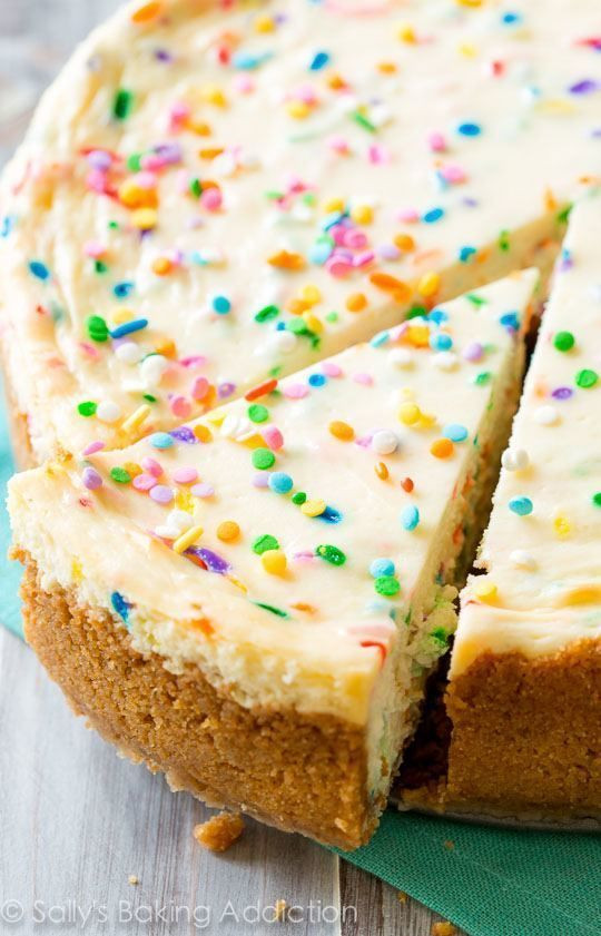 Cheesecake Factory Birthday Cake  Funfetti Cheesecake Recipe