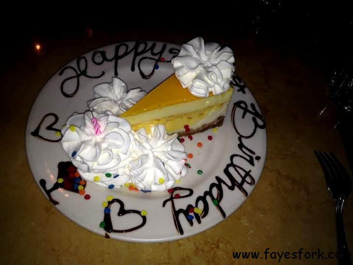 Cheesecake Factory Birthday Cake  The Cheesecake Factory happy birthday sis PASADENA CA