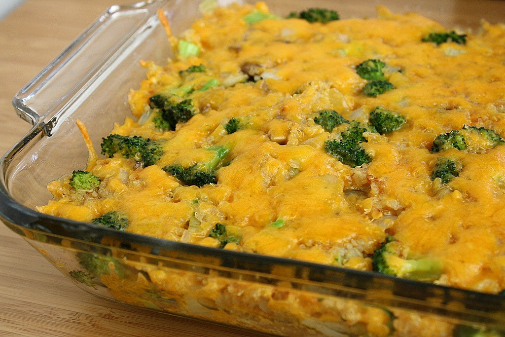 Cheesy Broccoli Casserole  The Garden Grazer Cheesy Broccoli Quinoa Casserole