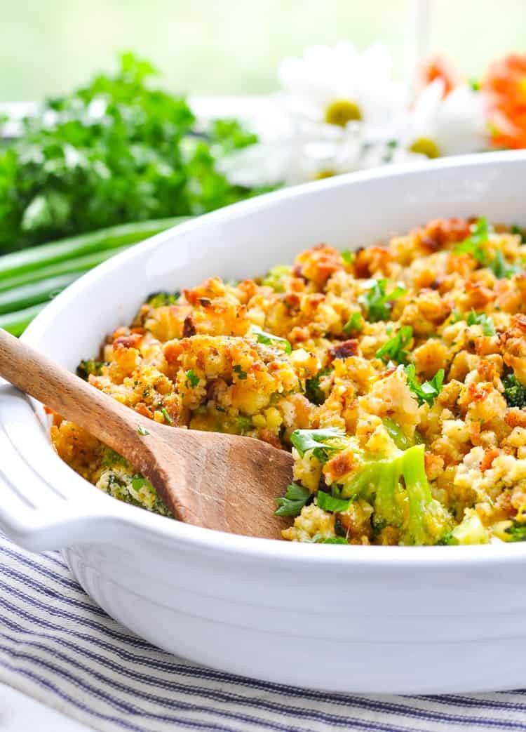 Cheesy Broccoli Casserole  Fannie s Easy Cheesy Broccoli Casserole The Seasoned Mom