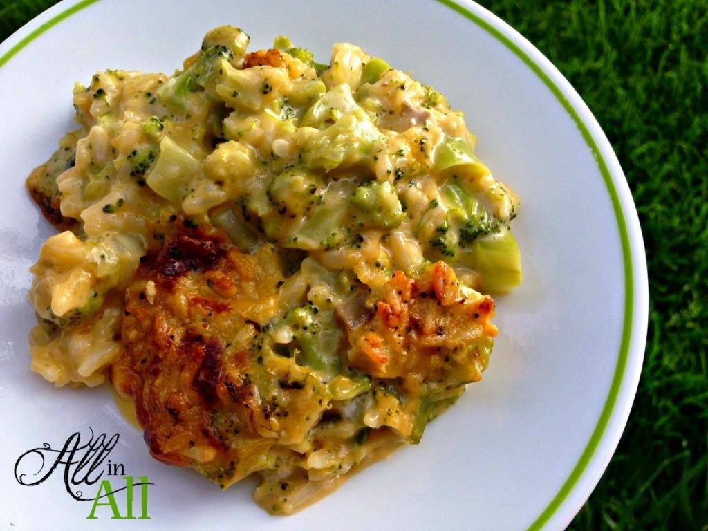 Cheesy Broccoli Casserole  Cheesy Broccoli Rice Casserole All in All