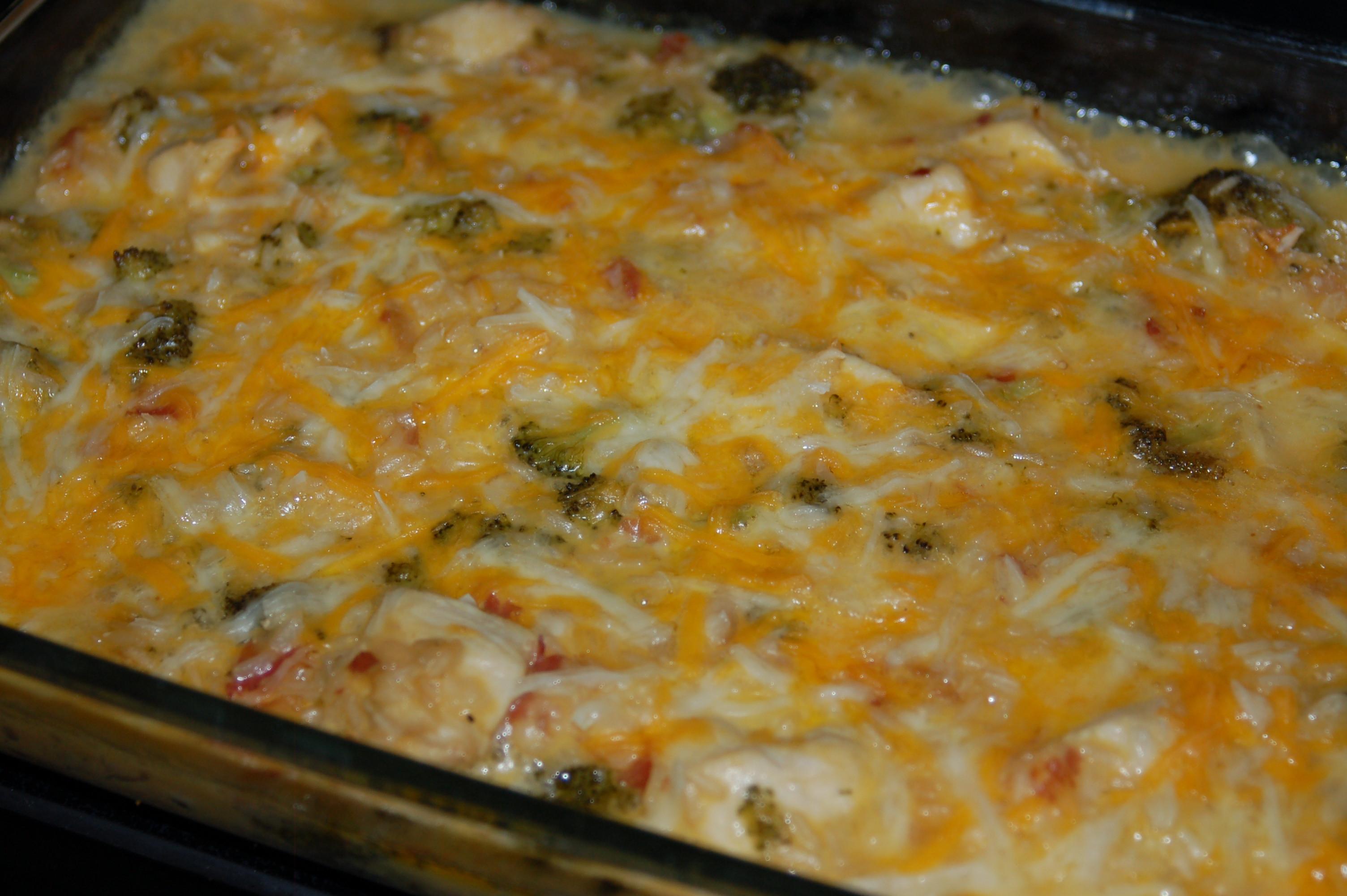 Cheesy Chicken Broccoli Bake  Cheesy Chicken Broccoli and Rice Casserole