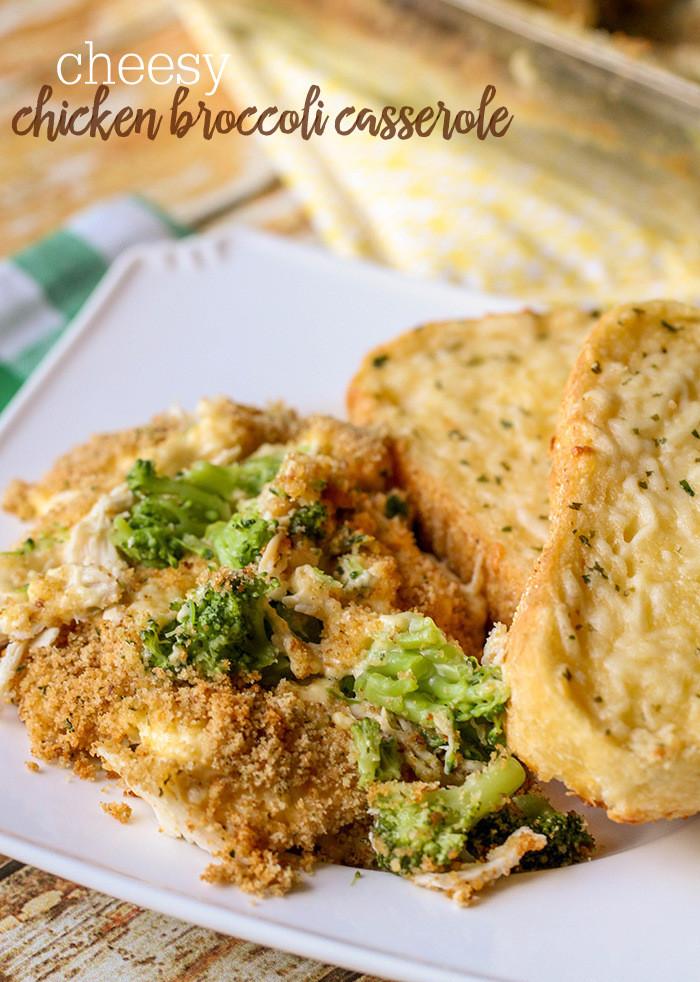 Cheesy Chicken Broccoli Bake  Cheesy Chicken Broccoli Casserole
