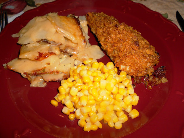 Cheesy Potatoes With Corn Flakes  Corn Flake Chicken and Cheesy Scallop Potatoes