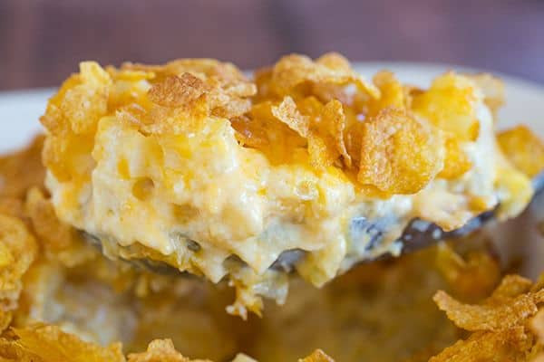 Cheesy Potatoes With Corn Flakes  Cheesy Potato Casserole with Corn Flake Topping