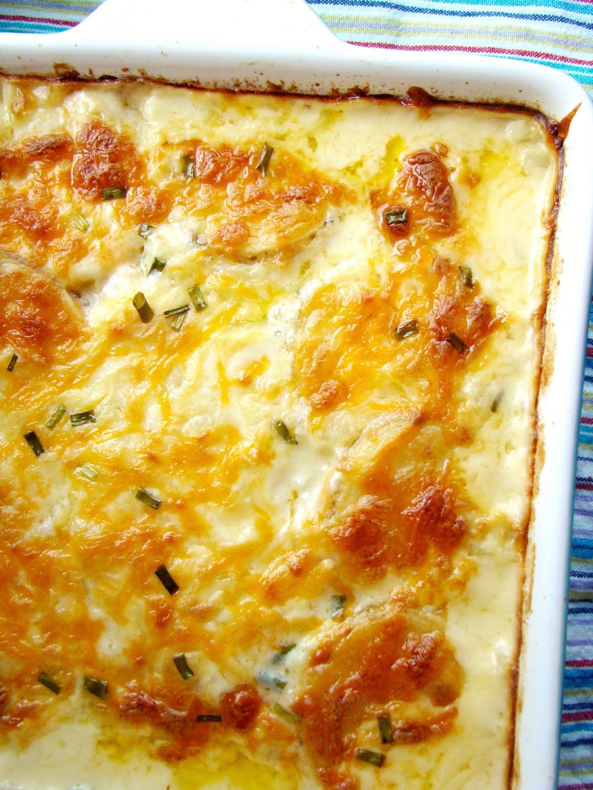 Cheesy Scalloped Potatoes Recipe  Family Feedbag Cheesy scalloped potatoes