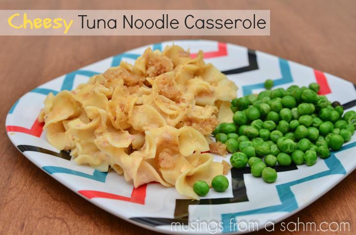 Cheesy Tuna Noodle Casserole  Cheesy Tuna Noodle Casserole Recipe with Velveeta Cheese