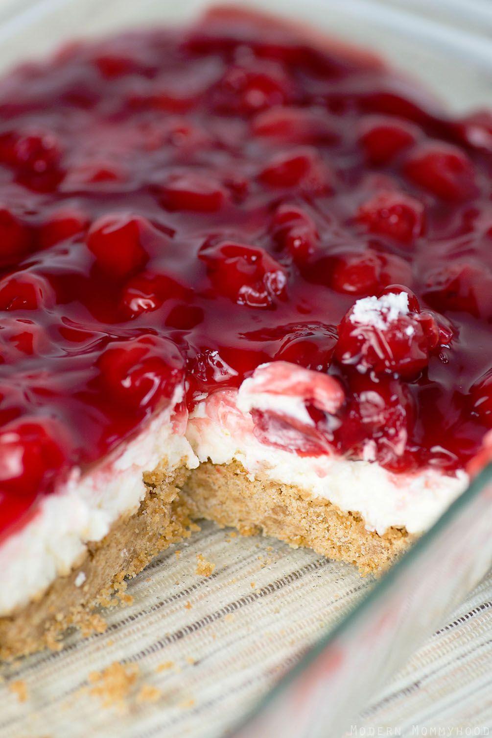 Cherry Pie Filling Desserts  Cherry Delight Recept