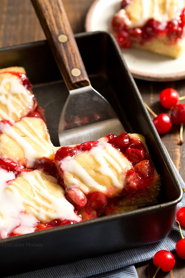 Cherry Pie Filling Desserts  Cherry Cobbler Bars Chocolate Moosey
