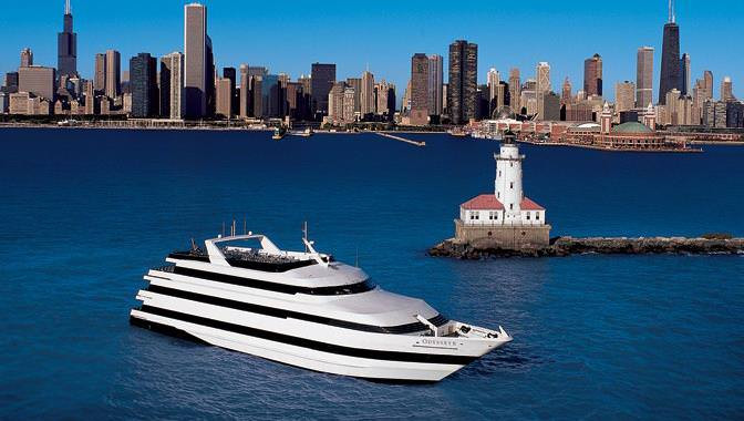 Chicago Dinner Cruise  Chicago Lakefront Luxury Dinner Cruise with Table Service