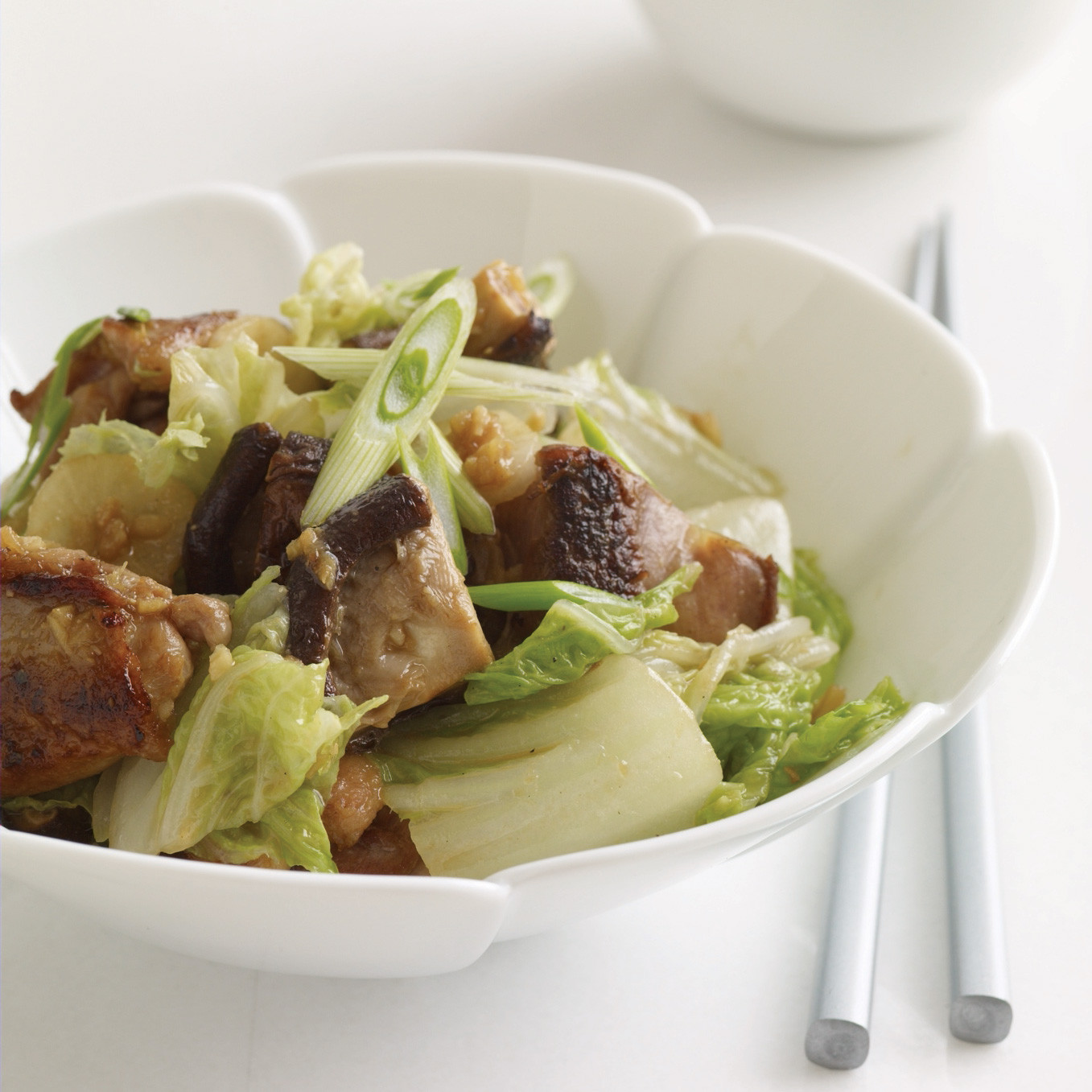 Chicken And Cabbage  Miso Ginger Chicken and Cabbage Recipe Marcia Kiesel