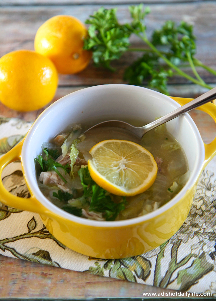 Chicken And Cabbage  Lemony Chicken and Cabbage Soup with Quinoa