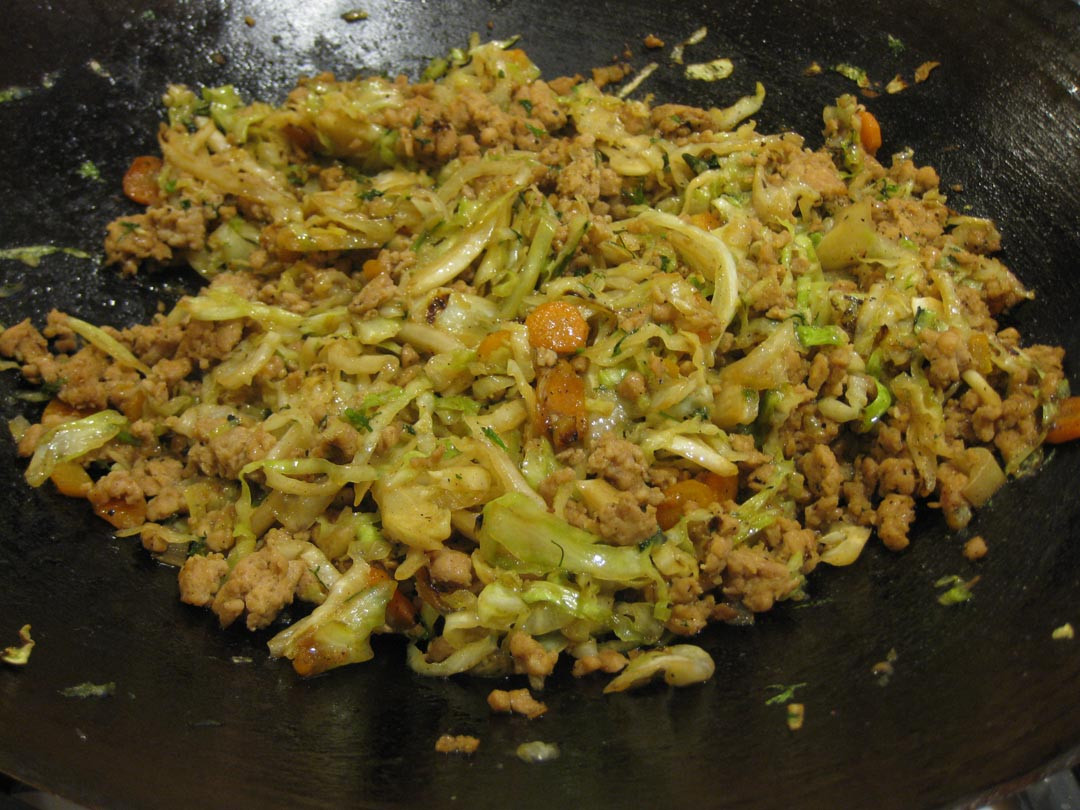 Chicken And Cabbage  Chinese Minced Chicken with Cabbage or Chicken in Lettuce