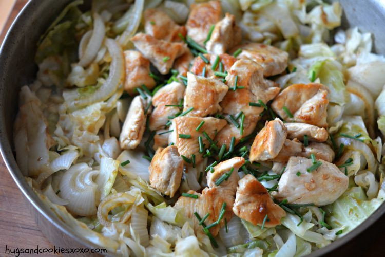 Chicken And Cabbage  Skillet Chicken and Cabbage Hugs and Cookies XOXO