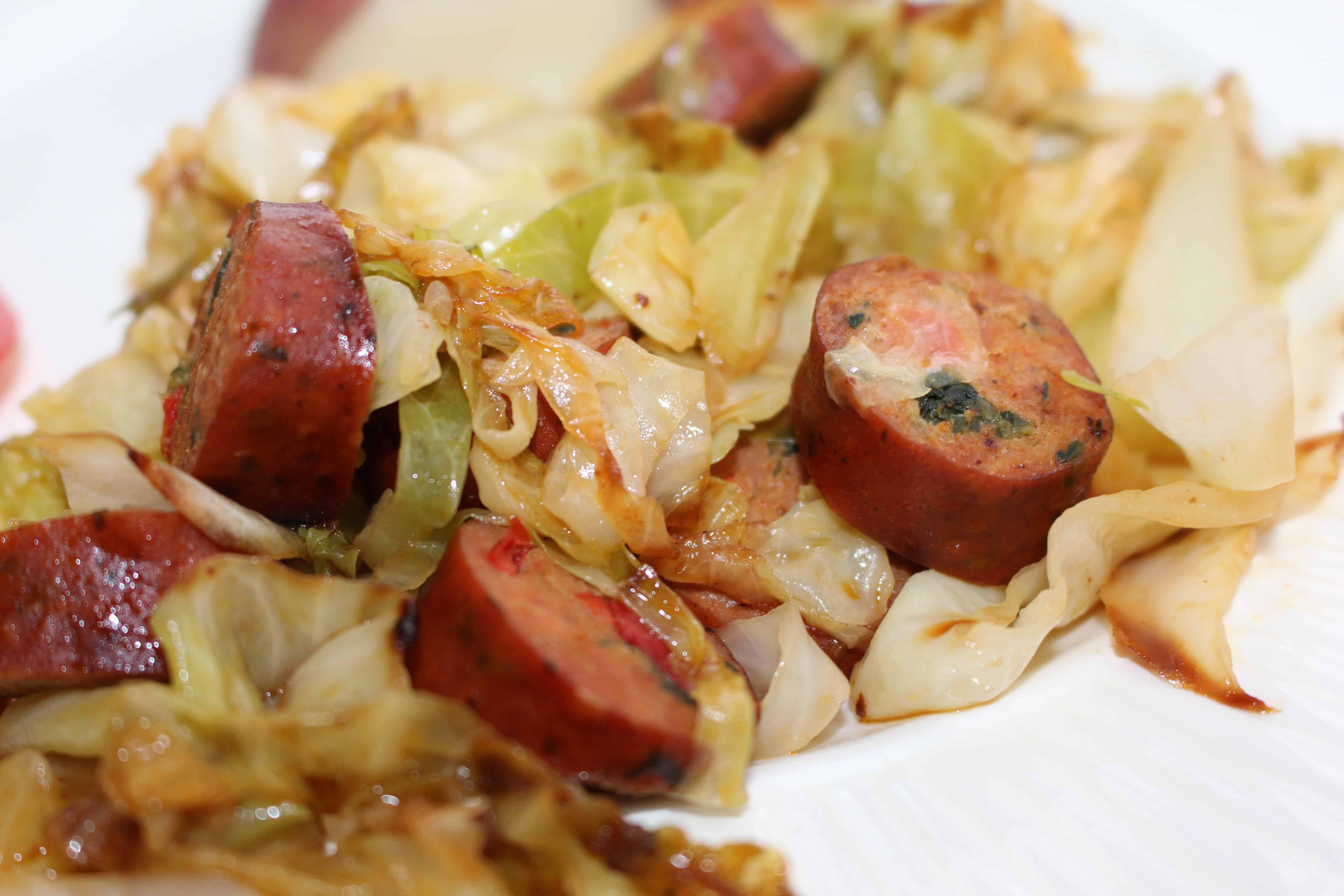 Chicken And Cabbage  Chicken Sausage and Cabbage Stir Fry