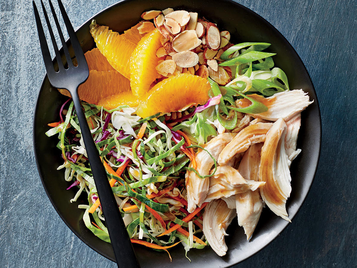 Chicken And Cabbage  Orange Almond Chicken and Cabbage Bowls Recipe Cooking Light