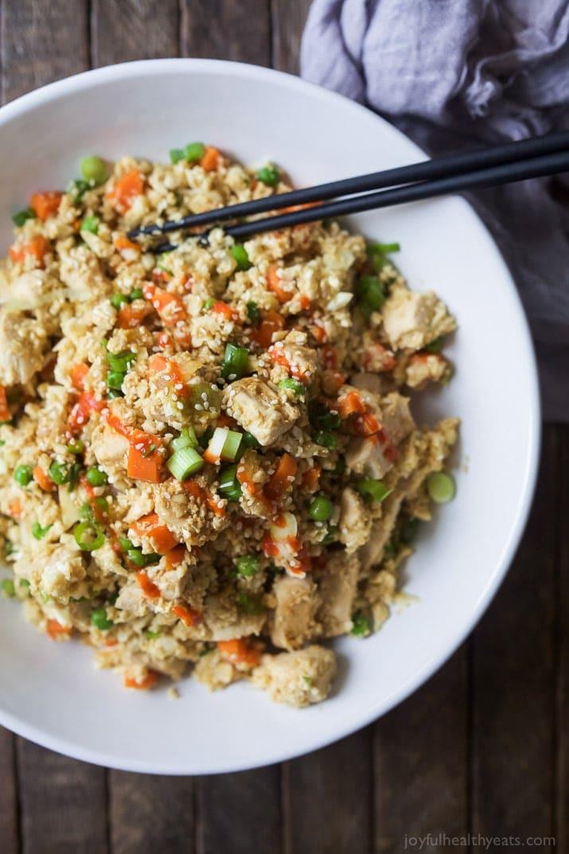 Chicken And Cauliflower Rice  15 Minute Cauliflower Chicken Fried Rice