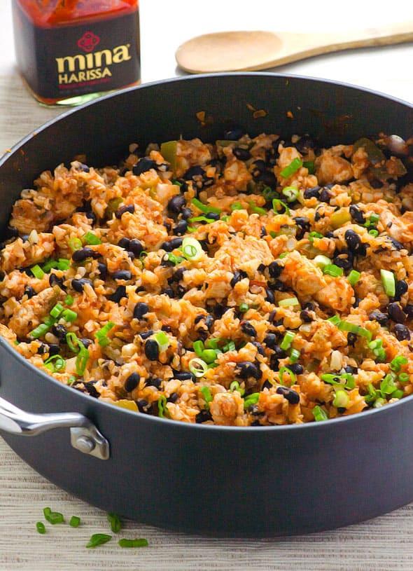 Chicken And Cauliflower Rice  Chicken Cauliflower Rice and Beans iFOODreal Healthy