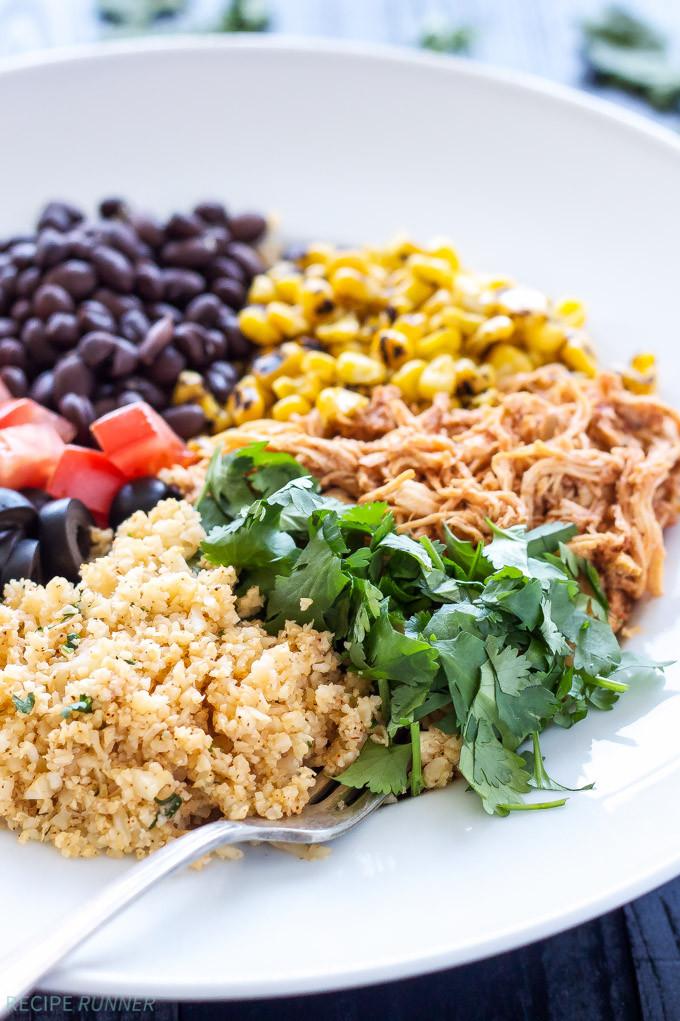 Chicken And Cauliflower Rice  Chicken Enchilada Cauliflower Rice Bowls Recipe Runner