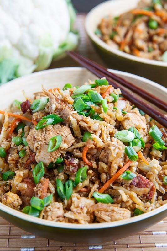 Chicken And Cauliflower Rice  Chicken Fried Cauliflower Rice on Closet Cooking