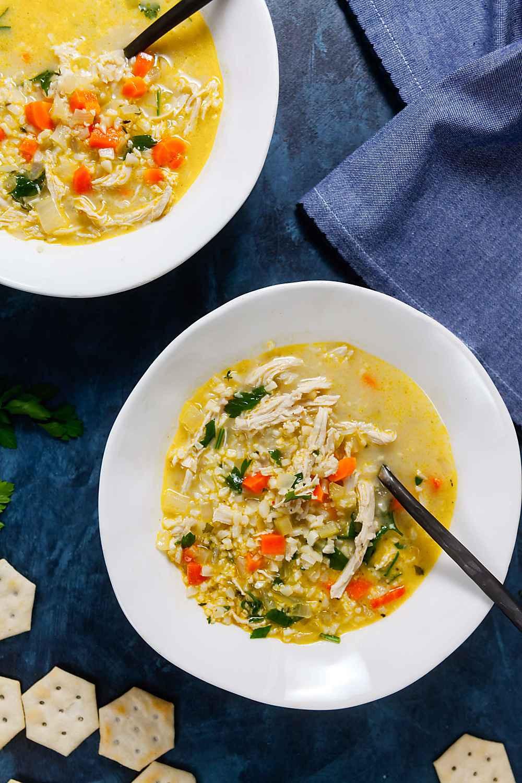 Chicken And Cauliflower Rice  Chicken Cauliflower Rice Soup Whole 30